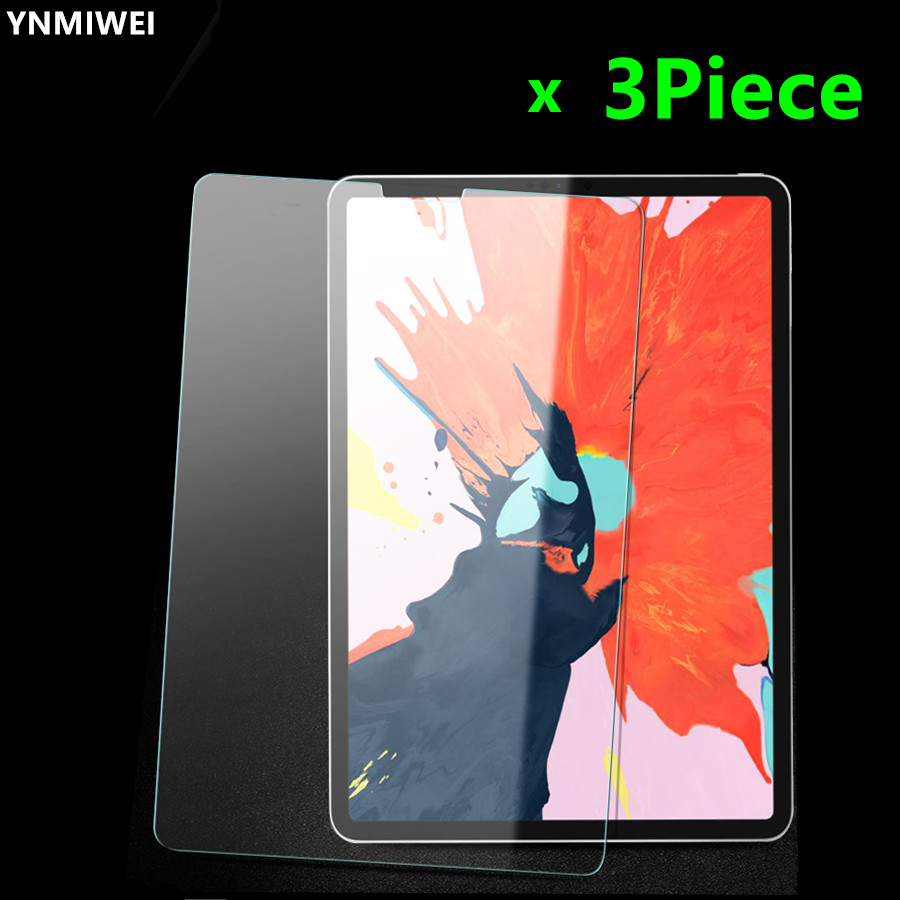 3piece Tempered Glass Film For Apple IPad Pro 11 Inch 2018 Screen Protector For IPad Pro 11 Air 1 2 Pro 10.5 Mini 5 Glass Film