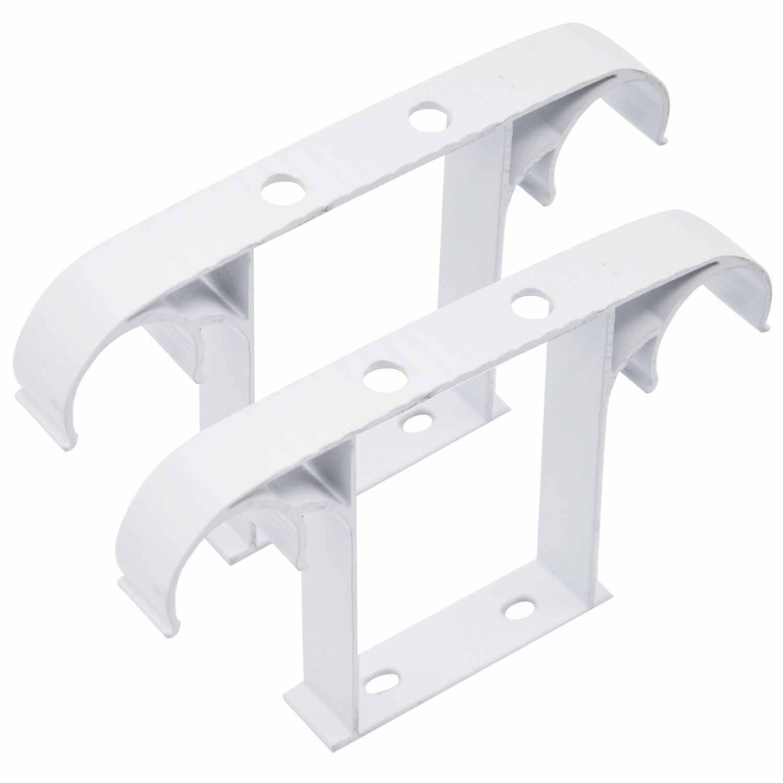 Обновленная занавеска веревка драпировочный полюс потолочная установленная двойная алюминиевая ремка для телефона сплав кронштейн Аксессуары для занавесок Tringle 2 цвета