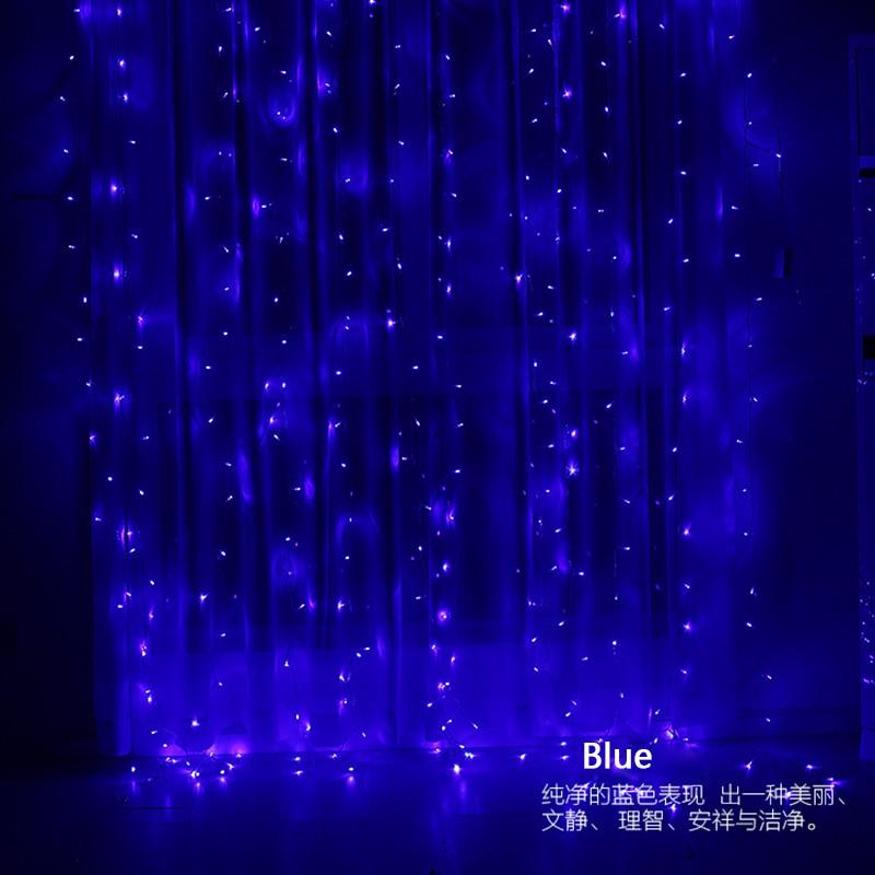 Image 5 - 3x3m 300 led string fairy lights Wedding garden party led curtain Decor Christmas Garlands light string led lights Decoration-in LED String from Lights & Lighting on