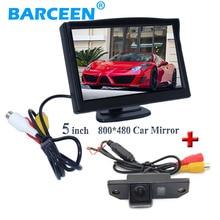 """5 """"Car экран монитор TFT черный пластиковый корпус + ночного видения автомобиля резерв камера заднего вида для ford фокусировки (3C) /Mondeo/C-Max"""