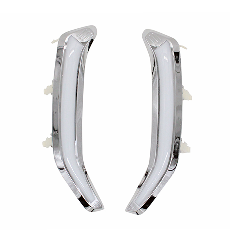 12V Car DRL with Yellow Signal Function Chromed ABS Cover LED Daytime Running Light For Subaru Forester 2013 2014 2015 2016 hot sale abs chromed front behind fog lamp cover 2pcs set car accessories for volkswagen vw tiguan 2010 2011 2012 2013
