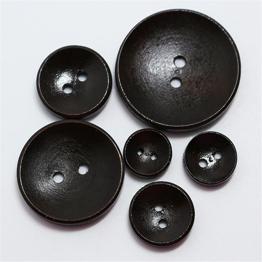 Large 28mm 34mm Patrón Marrón Efecto Madera Natural 4 botones de agujero Q210A-Q210B
