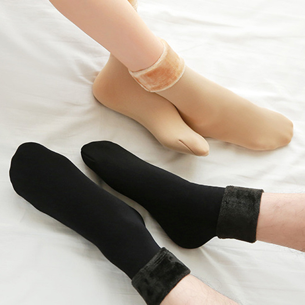 Wool Cashmere Women Soft And Comfortable Thicken Thermal Soft Casual Solid Winter Socks Calcetines De Invierno Y50C