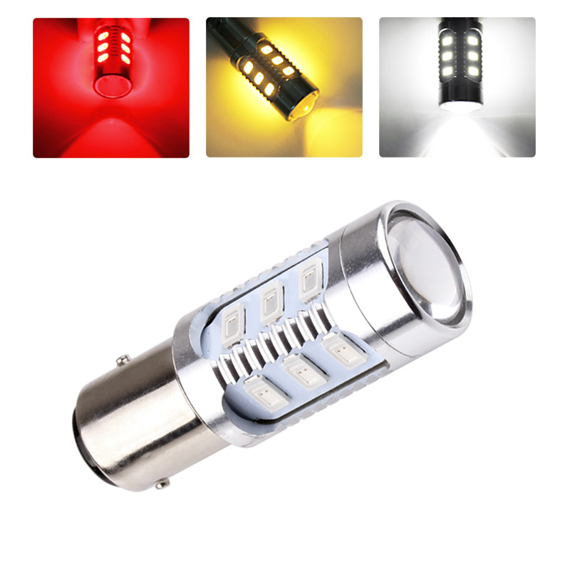 1157 BAY15D Bulb Cree led Chips High Power lamp 21/5w led car bulb brake Lights Source parking White Red Yellow 12V - 24V D035