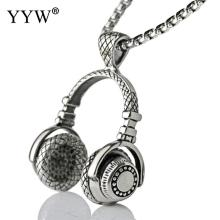 YYW Music DJ Headphone Pendant Necklaces Stainless Steel Headset Necklace gift Chain Men Women Hip Hop Jewelry Rock