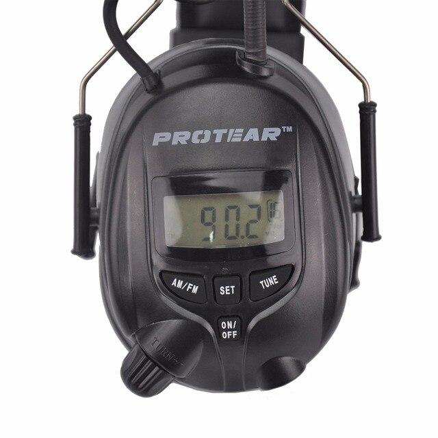 Protear NRR 25dB protecteur doreille électronique   Oreillettes de Radio AM FM, Protection doreille électronique