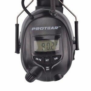 Image 2 - Protear NRR Protector auditivo electrónico, orejeras de Radio AM FM, protección auditiva electrónica