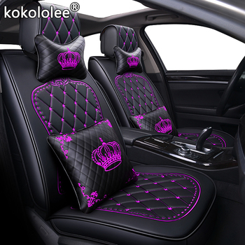 kokololee pu leather car seat cover For peugeot 308 508 3008 kia soul ceed nissan leaf toyota vitz car styling auto accessories