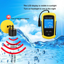FFC1108-1 Hot Sale Alarm 100M Portable Sonar LCD Fish Finders Fishing lure Echo Sounder Finder