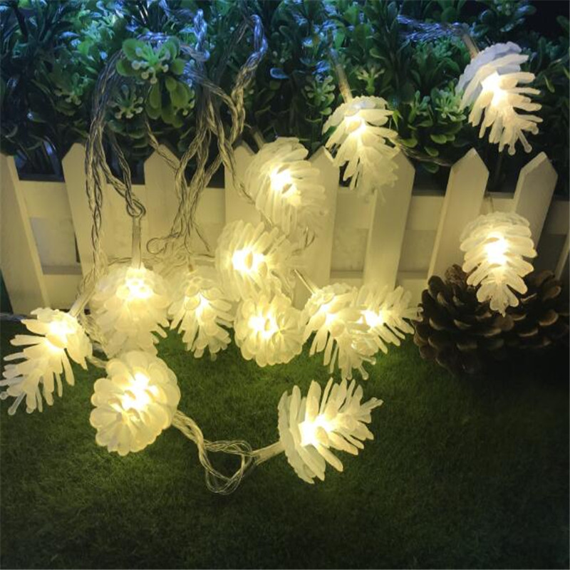 Knowledgeable 7.5m 50led Pinecone String Warm Lamp Fairy Light Holiday Wedding Ramadan Party Light Christmas Tree Garden Decoration Ornament Lighting Strings Lights & Lighting