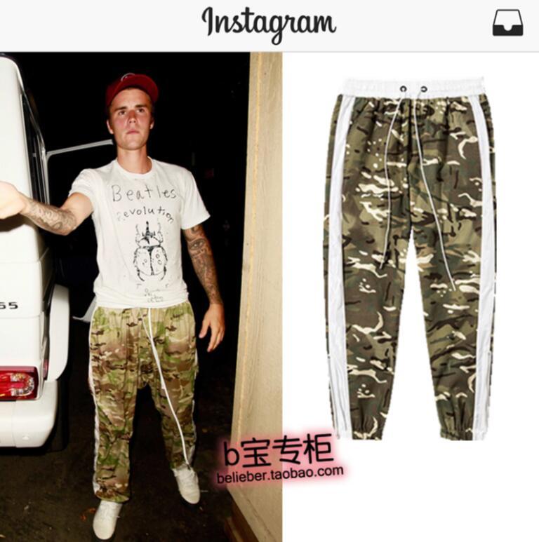 Costumes Scène Chanteur Rétro Plus Nouveau Salon Vêtements La Camouflage Bieber Hommes As Picture Bord Blanc De Taille Pantalon Justin 2018 wqFCZ
