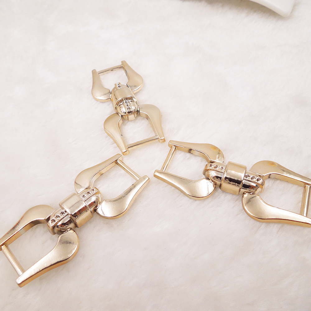 62/28mm,10pcs uv plated rose gold no fade ribbon buckles acessories Invitation Ribbon Slider Headband Hair Clip DIY