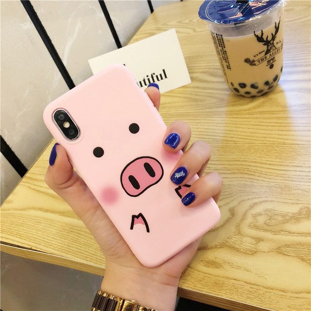 Cute Cartoon Pig Phone Case For iPhone 2