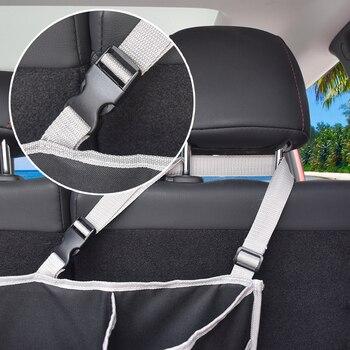 автомобильный органайзер на заднем сиденье   Органайзер для багажника автомобиля, сумка для хранения заднего сиденья, сетчатая вместительная многофункциональная карманная подвесная ...