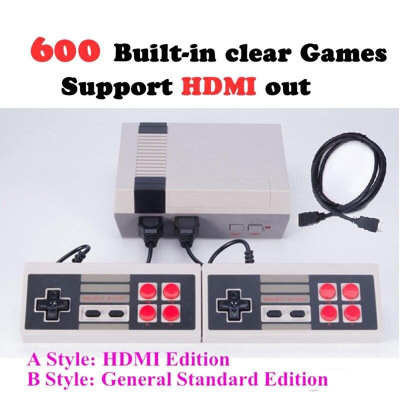 Eas ТВ ITA HDMI вне Ретро Классический Ручные игры Семья ТВ игровой консоли детства встроенный 600 игр мини консоли r32