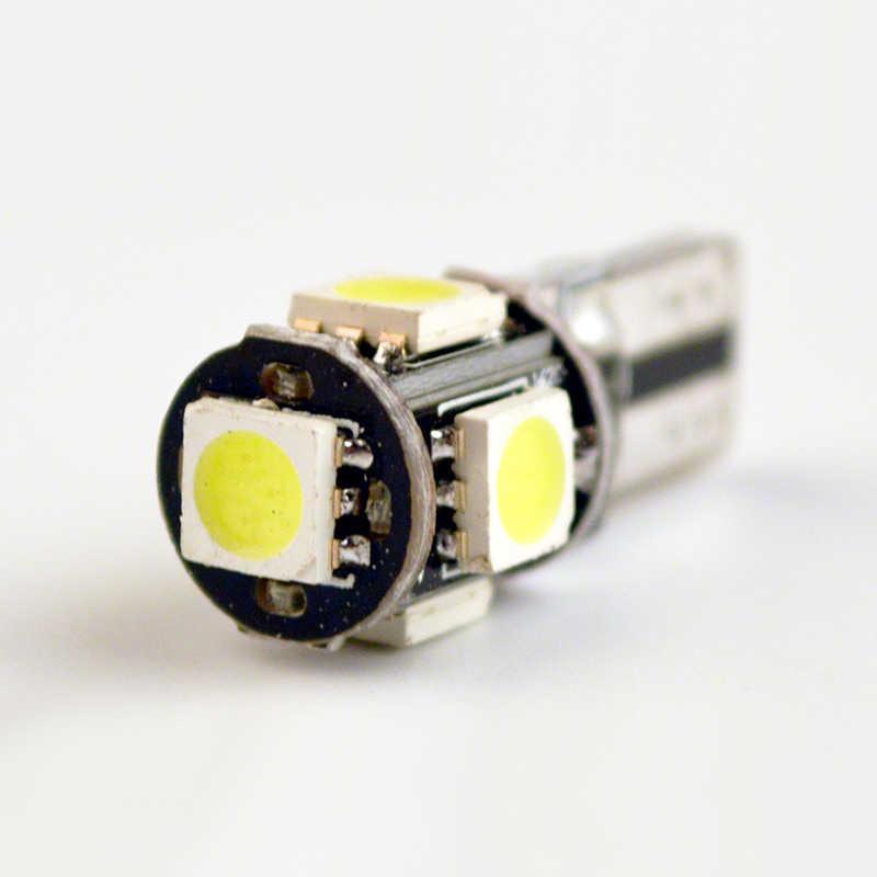 Flytop T10 5SMD CANBUS 5050 SMD W5W 194 LED di Errore Gratuito Auto Luce Lampadina Auto Bianco/Blu/Giallo /Colore rosso PUÒ BUS Lampada Automotive