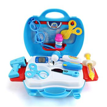 5 style child Pretend Play Doctor Nurse children Toy Set Portable Suitcase Medical Kit Kids Educational Role Play Classic Toys