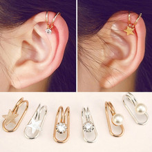 цена на 1 Pc Fashion Multi-style trend Women's U-shaped earrings Earless ear clip Heart shaped butterfly moon Feminine earrings Jewelry