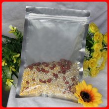 100pcs/lot 16cm*24cm*180micron High Quality Clear + AL Foil Bag Pack Plastic Transparent Snack Food Bag