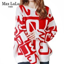 Warm Pullovers Max Lulu Sweaters Korean Jumper Knitwear Womens Knitted Casual Fashion