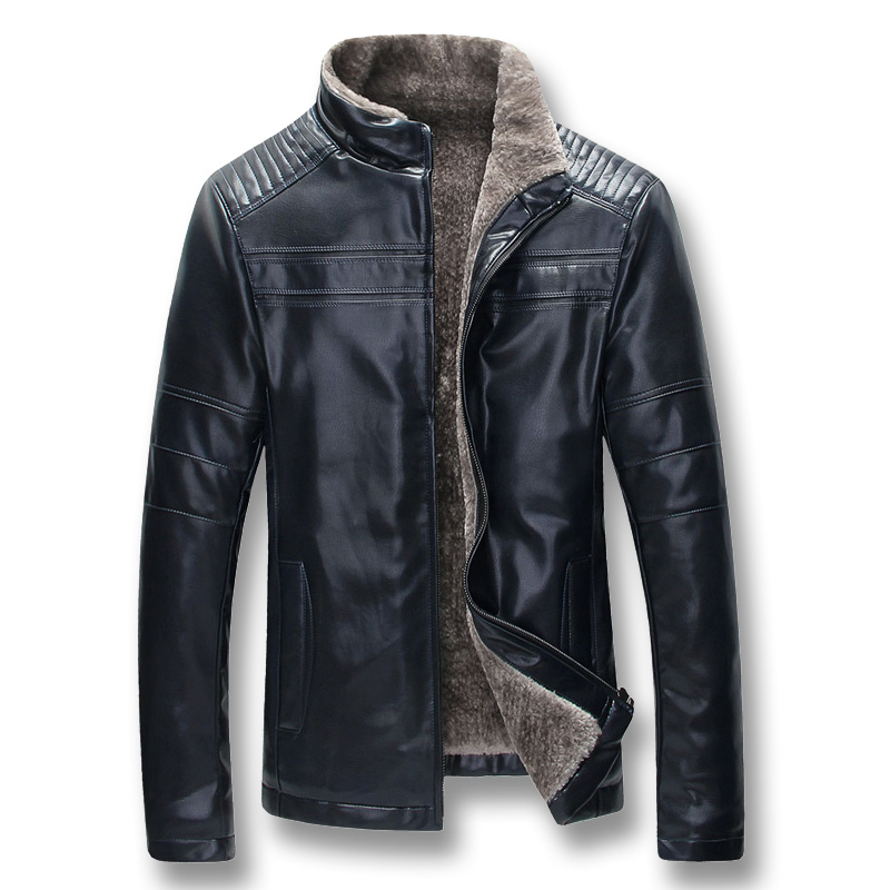 iSurvivor 2019 Men Winter Thick Fleece PU Leather Jackets Coats Hombre Male Casual Fashion Slim Fit iSurvivor 2019 Men Winter Thick Fleece PU Leather Jackets Coats Hombre Male Casual Fashion Slim Fit Large Size Zip Jackets Men