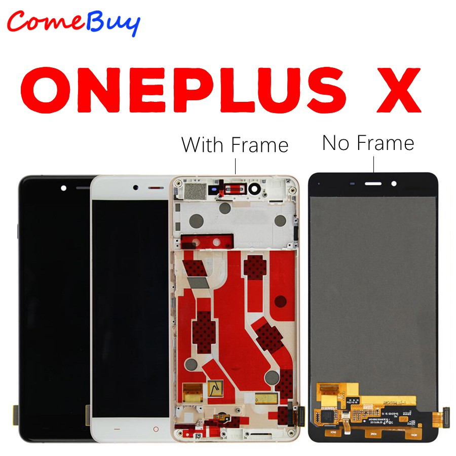 OnePlus X LCD Display Touch Screen Digitizer Assembly Oneplus X LCD With Frame E1001 Screen Replacement Black White