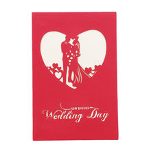 Wedding anniversary card promotion shop for promotional wedding 3d pop up cards paper craft greeting cards invitations valentine lover love romantic birthday wedding anniversary greeting card m4hsunfo