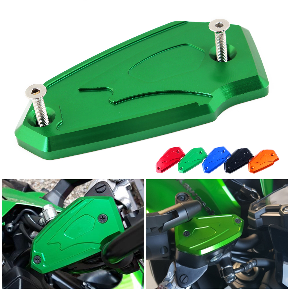 Motorcycle accessories CNC Front Brake Fluid Reservoir clutch Fluid Oil Protector Tank Cap Cover For Kawasaki Z900 Z 900 2017 motorcycle cnc front brake reservoir fluid cap cover for kawasaki z250 z750r 11 15 z1000 10 15 gtr1400 07 15