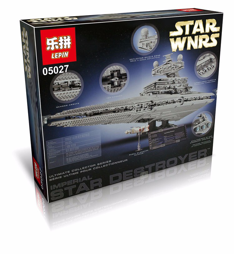 LEPIN 05027 Emperor Fighters Ship Star War legoing 10030 Destroyer Starship Building Blocks Brick Children Toy Lepin