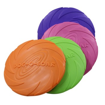2020 Pet UFO Toys New Small Medium Large Dog Flying Discs Trainning Interactive Toy Puppy Rubber Fetch Disc 15/18/22cm