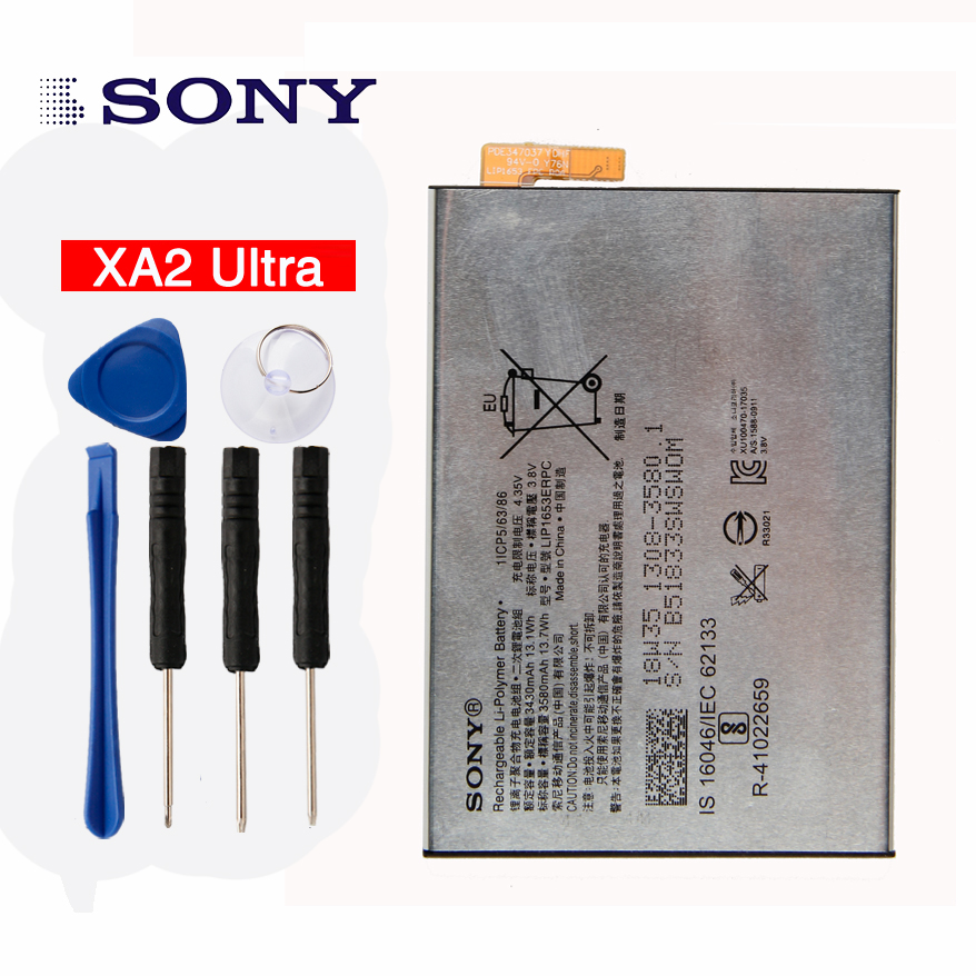 Original High Capacity LIS1653ERPC Phone <font><b>Battery</b></font> for Sony <font><b>Xperia</b></font> XA2 Ultra G3421 G3412 3430mAh <font><b>XA1</b></font> Plus Dual H4213 3430mAh image