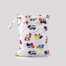 New Double Layers Washable Reusable Cloth Nappy Wet Bag 5 Colors Diaper Bag For Mother Stroller