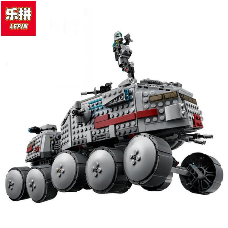 933Pcs LEPIN StarWars Clone Turbo Tank 75151 Building Blocks Compatible With STARWARS Bricks Toys 05031 Children Gift lepin 05031 star series war 933pcs clone set turbo model tank 75151 building blocks compatible with boys toys birthday gift
