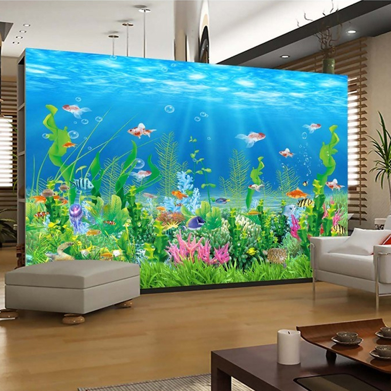 Aliexpress Buy Custom Photo Wall Mural Wallpaper 3D Underwater World Living Room Sofa Bedroom TV Background Covering Home Decor From