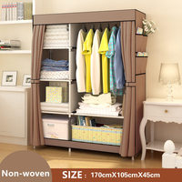 FREE Shipping Non Woven Wardrobe Closet Large And Medium Sized Cabinets Simple Folding Reinforcement Receive Stowed
