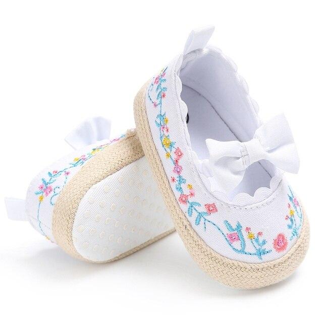 Для новорожденных обувь для девочек милое платье принцессы Мэри Джейн лук Обувь для малышей кроватки Bebe мягкой подошве противоскользящая обувь для детей Белый