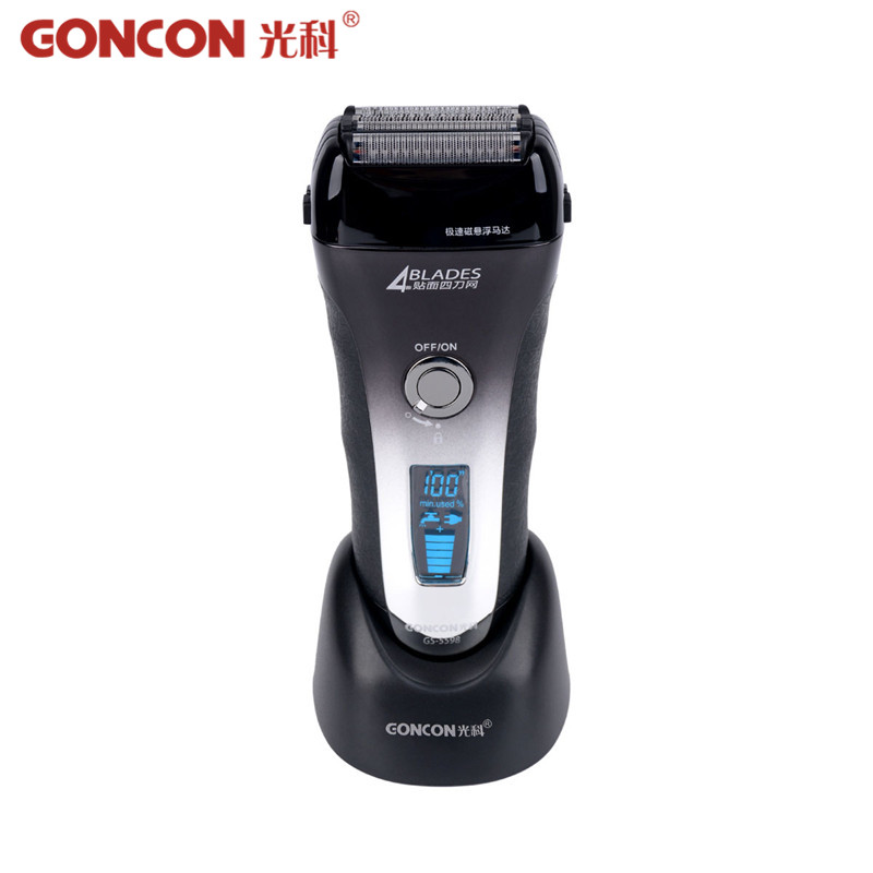 LCD Display Electric Shaver Men Washable Rechargeable 4 Blade Electric Shaving Razor Trimmer Machine Quick Charge Barbeador 4546 ж очищающее молочко с золотом bio gold milk 90г pulanna
