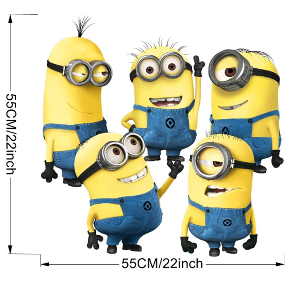 Cartoon 5 Characters : Aliexpress buy yellow cartoon characters wall