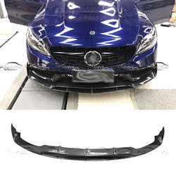 Автомобиль Стайлинг для BRABUS Стиль бампер из углеродного волокна спереди губ для Mercedes Benz W205 4 двери изменить в тела комплекты