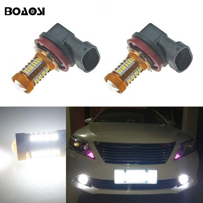 BOAOSI 2x High Power H11 4014 LED Fog Light Bulbs For Toyota Prius Camry 2007-2014 Corolla 2011-2014 Car Accessories special car trunk mats for toyota all models corolla camry rav4 auris prius yalis avensis 2014 accessories car styling auto