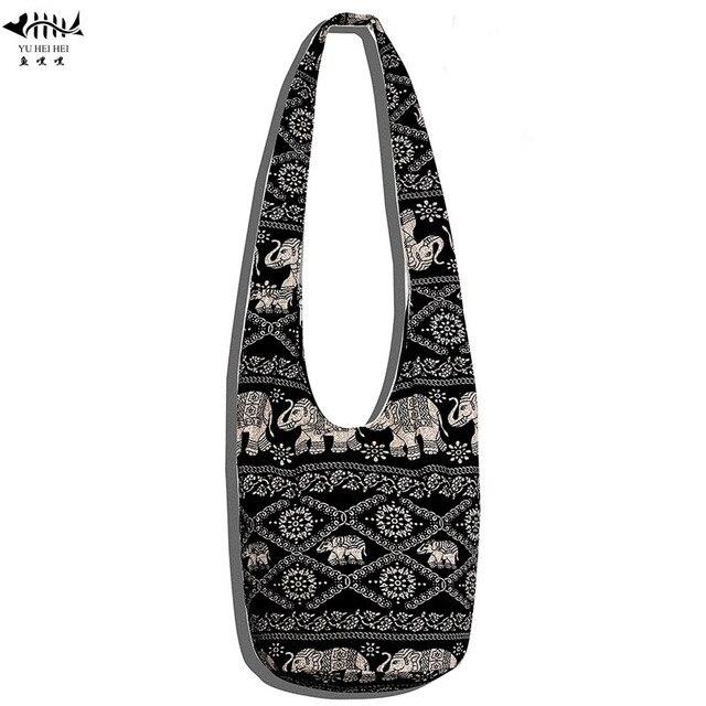 New Women Ethnic Tribal Bags Cotton Canvas Hippie Hobo Sling Cross Body Bag Messenger Purse Free