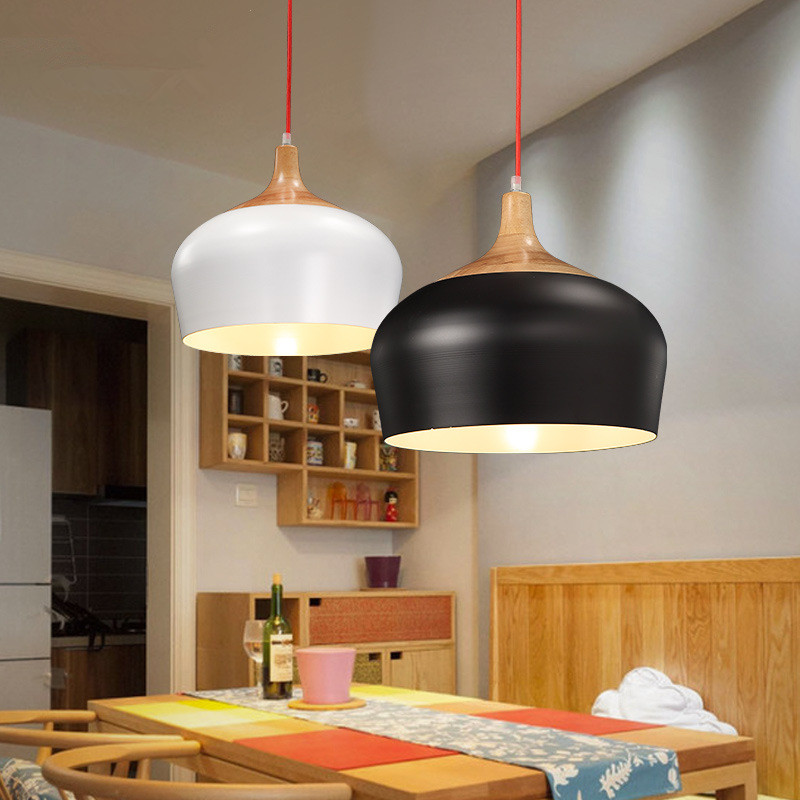 Nordic restaurant hanglamp simple modern personality creative wood art circular bar cafe real wood bedroom small pendant lightsNordic restaurant hanglamp simple modern personality creative wood art circular bar cafe real wood bedroom small pendant lights