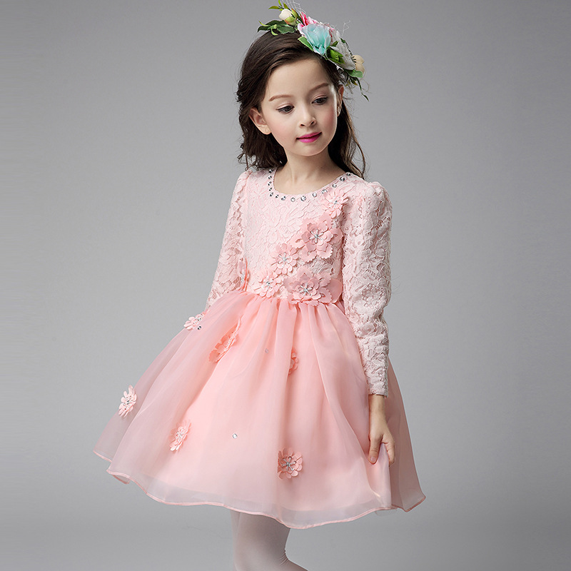 Kids Dresses for Girl Formal Evening Wedding Gown Princess Dress Children Clothes Flower Girls Dress princess party tutu dress стоимость