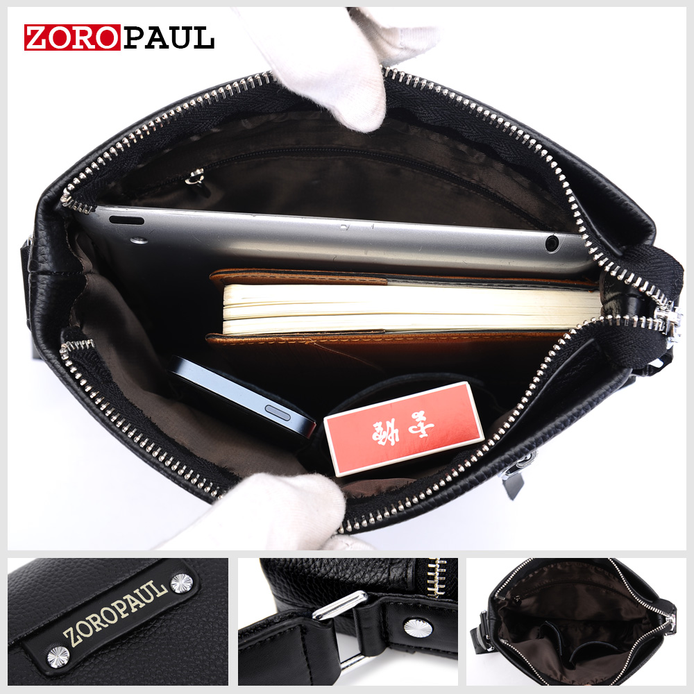 zoropaul alta qualidade crossbody bolsa Usage : Fashion Men's Messenger Bag And Clutch Wallet, The Best Gift For Men