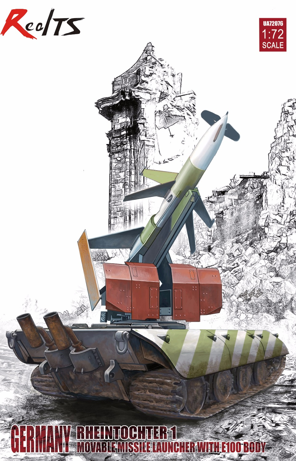 RealTS Modelcollect UA72076 1/72 Germany Rheintochter 1 movable Missile launch