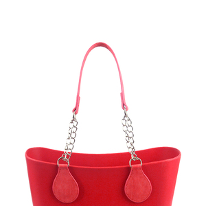 Image 5 - tanqu 1 Pair Nubuck Leather Edge Painting PU Chain Handle with Tear Drop for O Bag for EVA Obag Women Bag