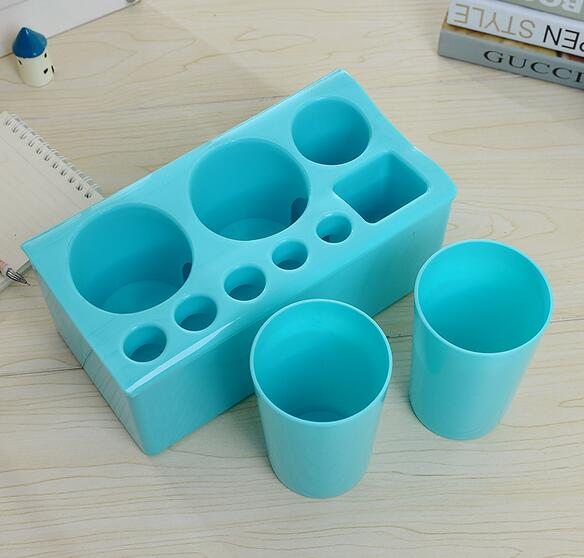 Color Multifunction Toothbrush Holder With Toothbrush Cup Plastic Environmental Protection Tooth Brush Case Bathroom Accessories