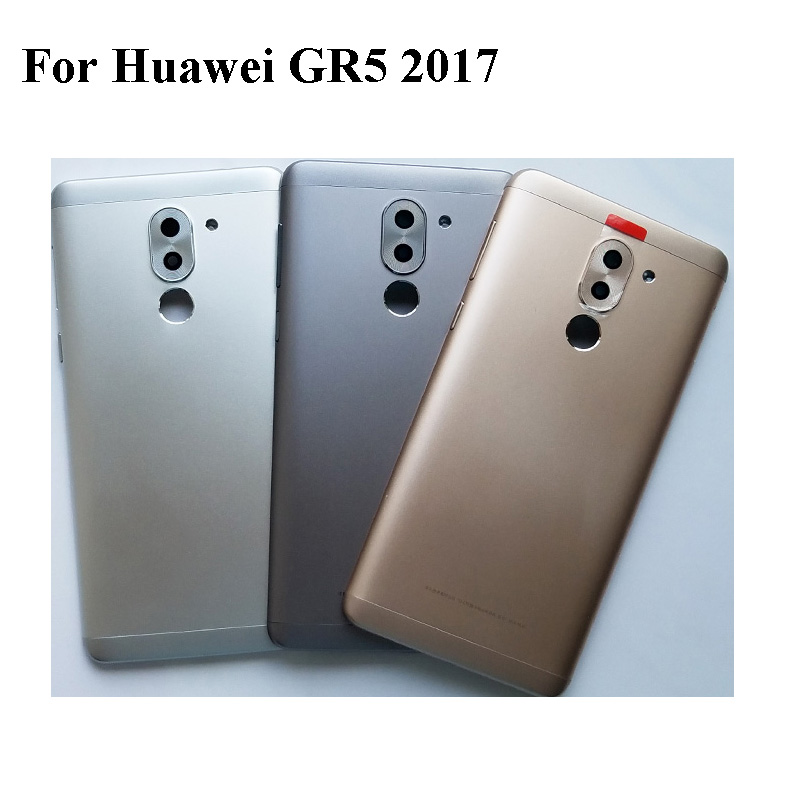 With LOGO Battery Back Cover For <font><b>Huawei</b></font> <font><b>GR5</b></font> <font><b>2017</b></font>/ GR52017 battery back Housing Door Case with back camera glass Replacement image