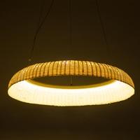 Bamboo ring LED lamps pendant lamps dining room annular lamp bar pendant light creative home lighting tea bamboo lightingZA zb35