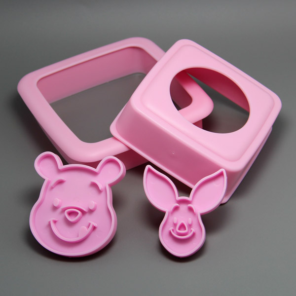 (8set/lot) Free Shipping Little Bear&Funny Pig Shape Sandwich Stamp Set Baking Accessaries
